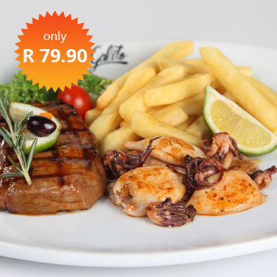 STEAK & CALAMARI R79.90 SPECIALS