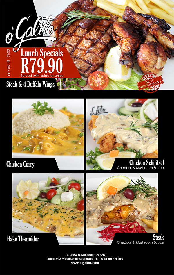 Specials Woodlands O Galito Restaurant
